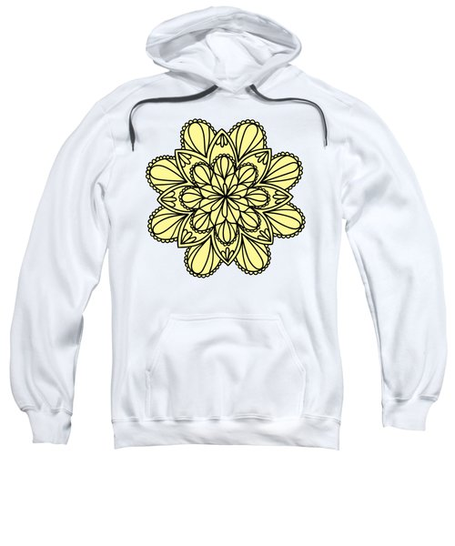 Lemon Lily Mandala Sweatshirt by Georgiana Romanovna