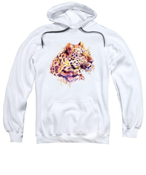 Leopard Head Sweatshirt by Marian Voicu