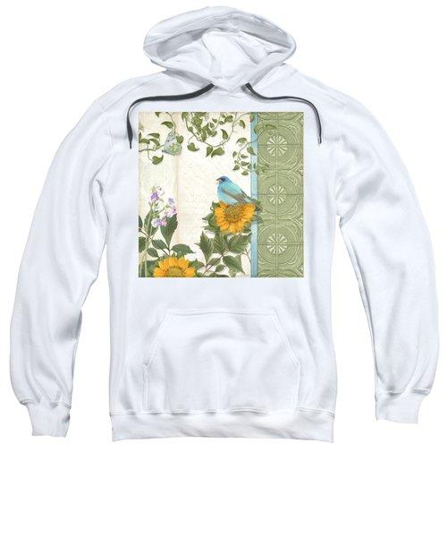 Les Magnifiques Fleurs Iv - Secret Garden Sweatshirt by Audrey Jeanne Roberts