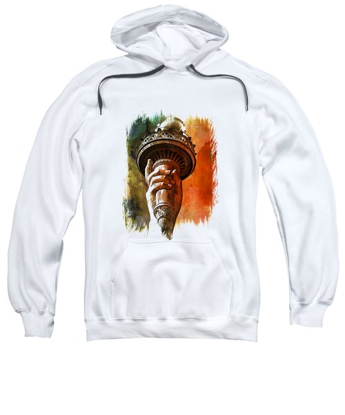 Light The Path Art 1 Sweatshirt by Di Designs