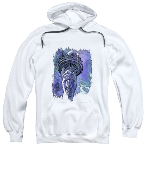 Light The Path Berry Blues 3 Dimensional Sweatshirt by Di Designs