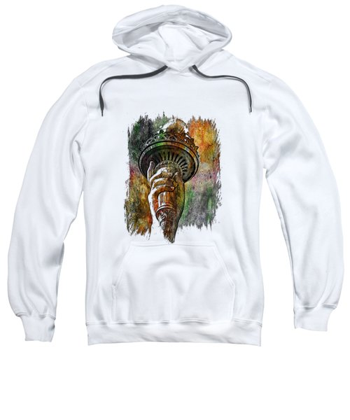 Light The Path Muted Rainbow 3 Dimensional Sweatshirt by Di Designs