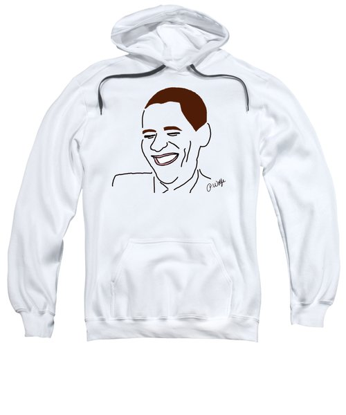 Line Art Man Sweatshirt by Priscilla Wolfe
