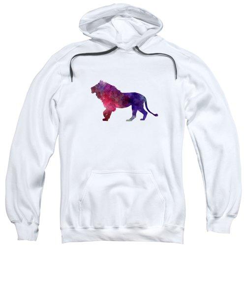 Lion 01 In Watercolor Sweatshirt by Pablo Romero