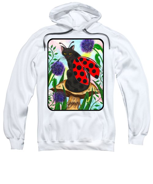 Logan Ladybug Fairy Cat Sweatshirt by Carrie Hawks
