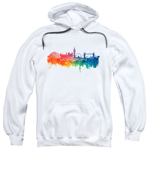 London Skyline City Color Sweatshirt by Justyna JBJart