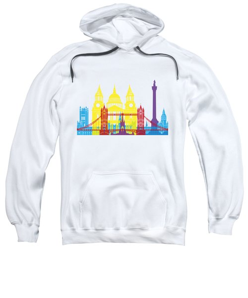 London Skyline Pop Sweatshirt by Pablo Romero
