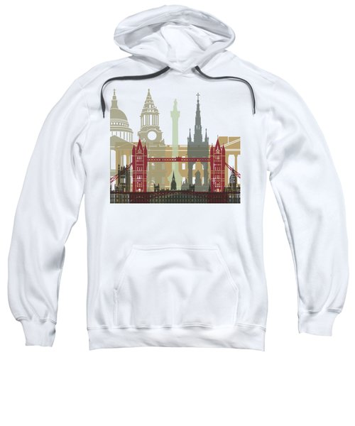 London Skyline Poster Sweatshirt by Pablo Romero