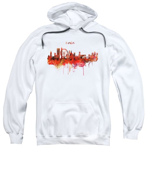 London Skyline Watercolor Sweatshirt by Marian Voicu