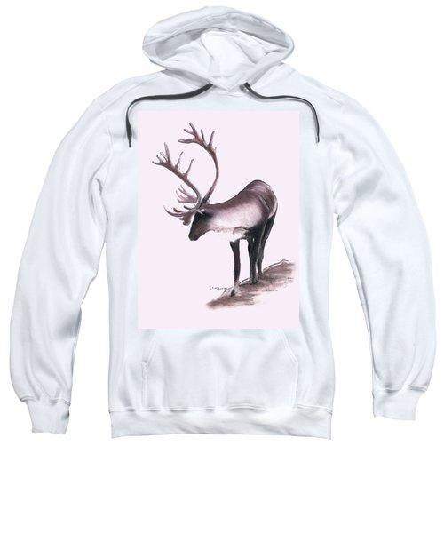 Lone Caribou Sweatshirt by Jane M Lucas