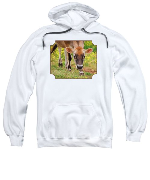Look Into My Eyes - Painterly Sweatshirt by Gill Billington