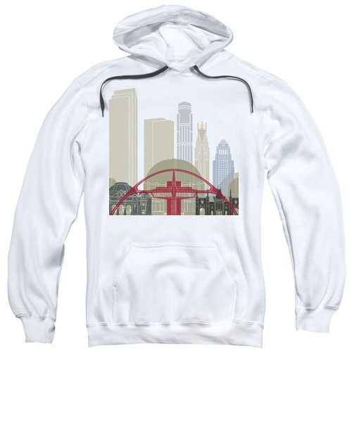 Los Angeles Skyline Poster Sweatshirt by Pablo Romero