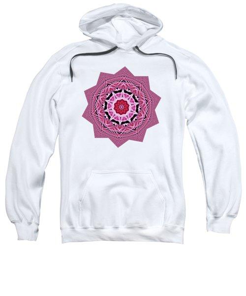 Loving Rose Mandala By Kaye Menner Sweatshirt by Kaye Menner