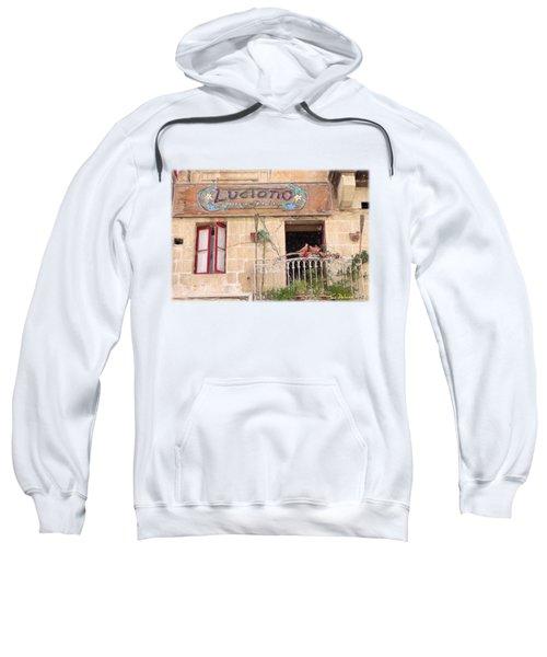 Luciano's Pizza Sweatshirt by Jon Delorme