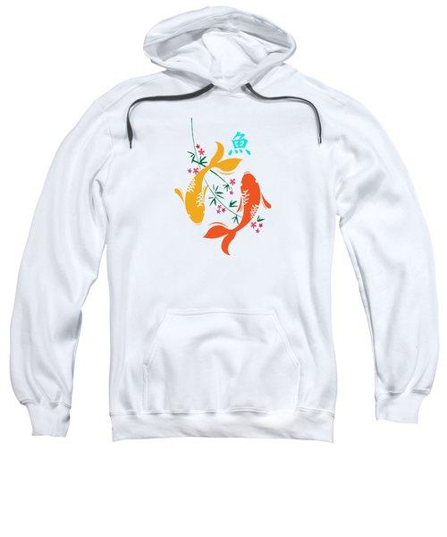Lucky Koi Fish Sweatshirt by Naviblue