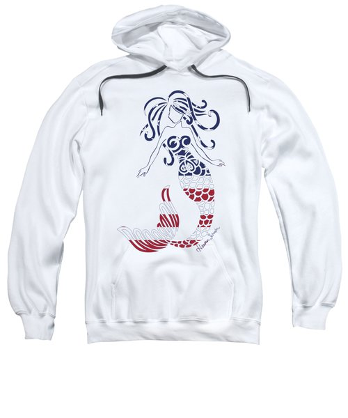 Made In The Usa Tribal Mermaid Sweatshirt by Heather Schaefer