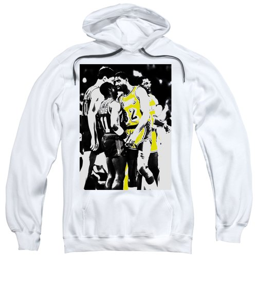 Magic Johnson And Isiah Thomas Sweatshirt by Brian Reaves