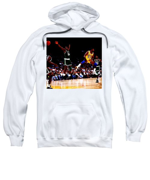 Magic Johnson No Look Pass 7a Sweatshirt by Brian Reaves