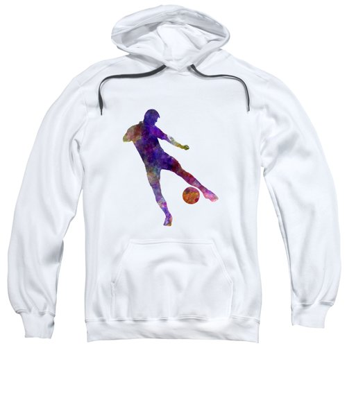 Man Soccer Football Player 02 Sweatshirt by Pablo Romero