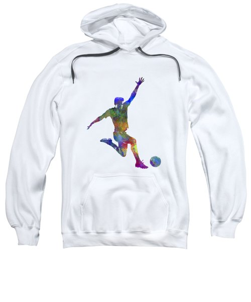 Man Soccer Football Player 05 Sweatshirt by Pablo Romero
