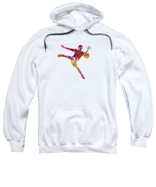 Man Soccer Football Player 08 Sweatshirt by Pablo Romero