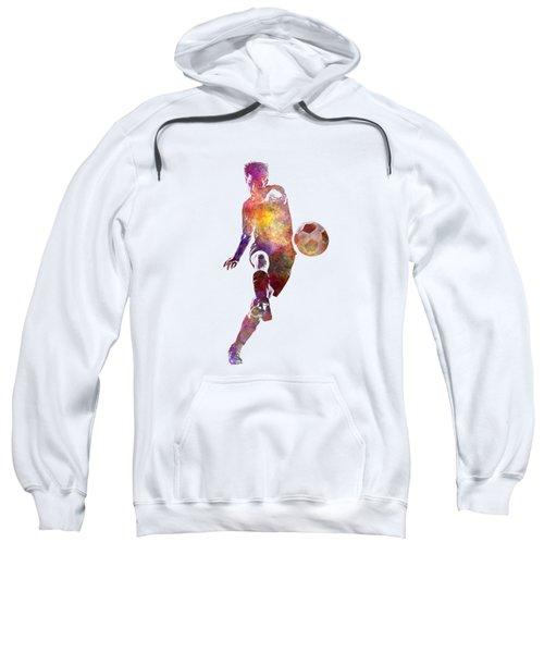 Man Soccer Football Player 10 Sweatshirt by Pablo Romero