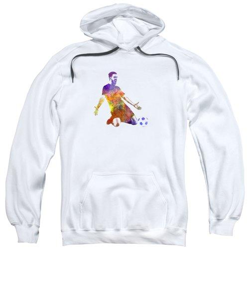 Man Soccer Football Player 13 Sweatshirt by Pablo Romero