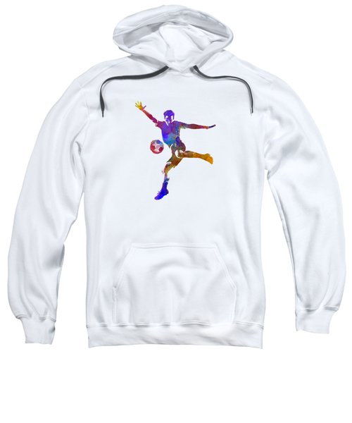 Man Soccer Football Player 14 Sweatshirt by Pablo Romero