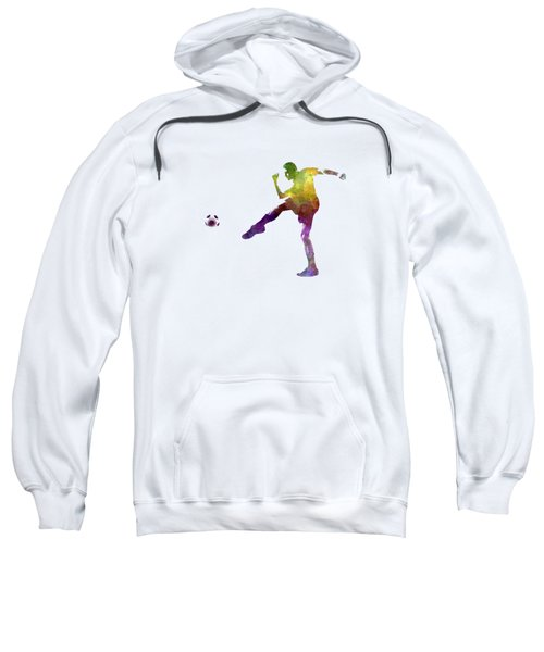 Man Soccer Football Player 15 Sweatshirt by Pablo Romero