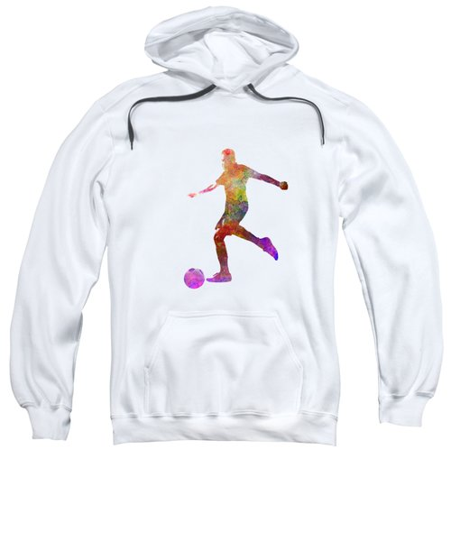 Man Soccer Football Player 16 Sweatshirt by Pablo Romero