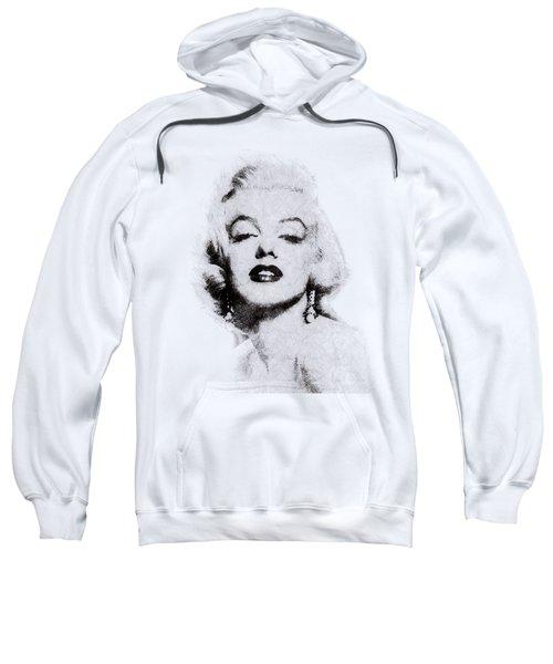 Marilyn Monroe Portrait 02 Sweatshirt by Pablo Romero