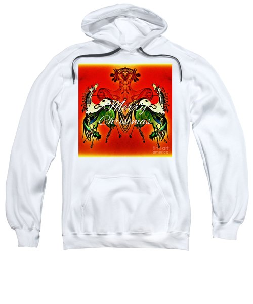 Merry Christmas Dancing Musical Horses Sweatshirt by Scott D Van Osdol