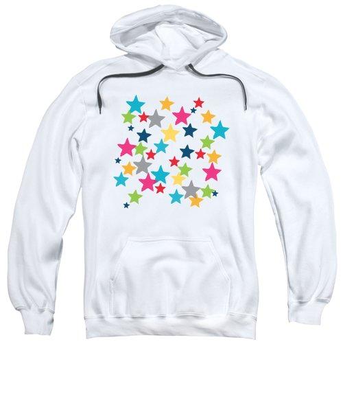 Messy Stars- Shirt Sweatshirt by Linda Woods