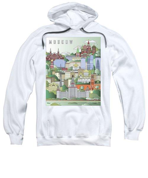 Moscow City Poster Sweatshirt by Pablo Romero