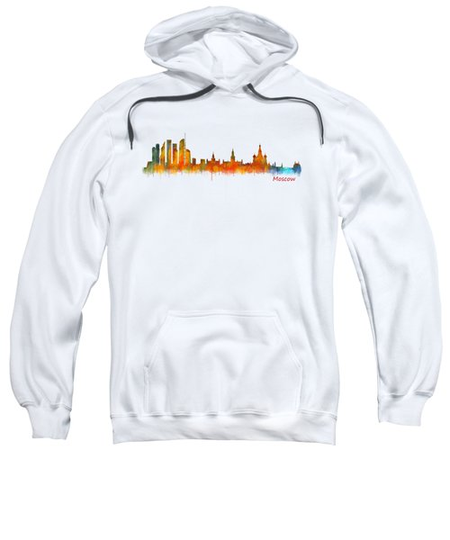 Moscow City Skyline Hq V2 Sweatshirt by HQ Photo