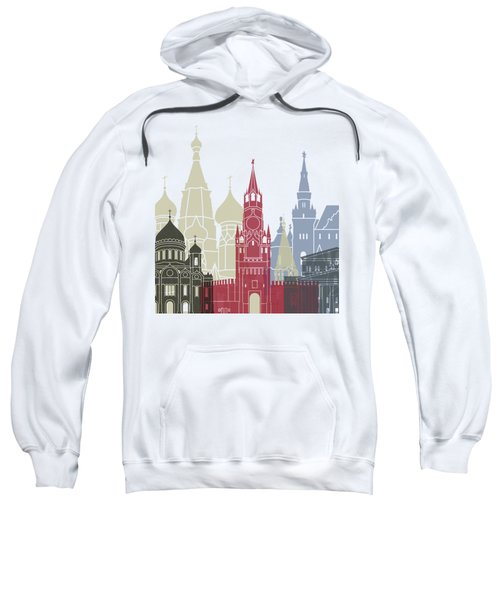 Moscow Skyline Poster Sweatshirt by Pablo Romero