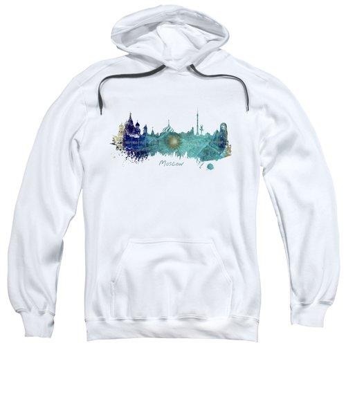 Moscow Skyline Wind Rose Sweatshirt by Justyna JBJart