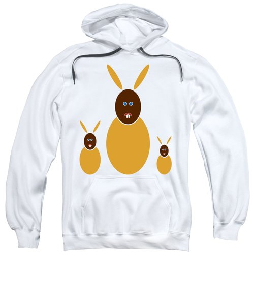 Mustard Bunnies Sweatshirt by Frank Tschakert
