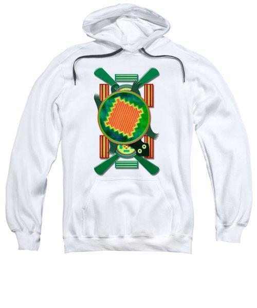 Native American 3d Turtle Motif Sweatshirt by Sharon and Renee Lozen