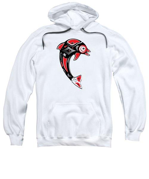 Native American Animal Dolphin Symbol Sweatshirt by Serena King