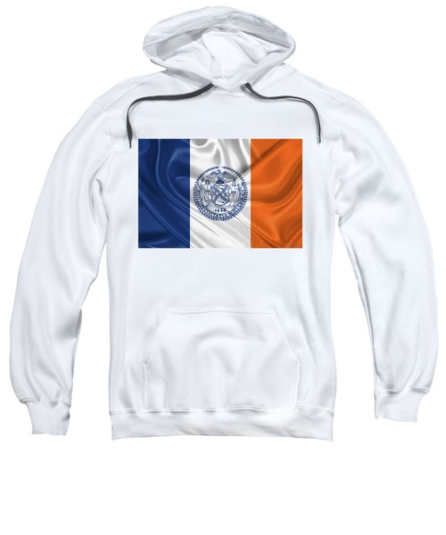 New York City - Nyc Flag Sweatshirt by Serge Averbukh