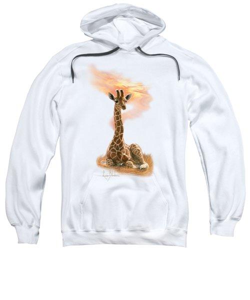 Newborn Giraffe Sweatshirt by Lucie Bilodeau
