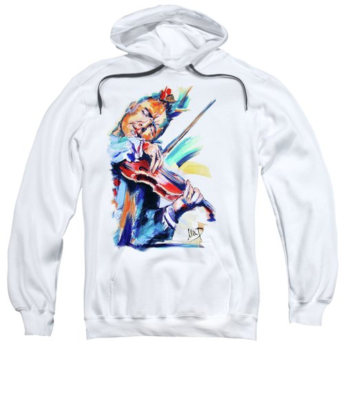 Nigel Kennedy Sweatshirt by Melanie D