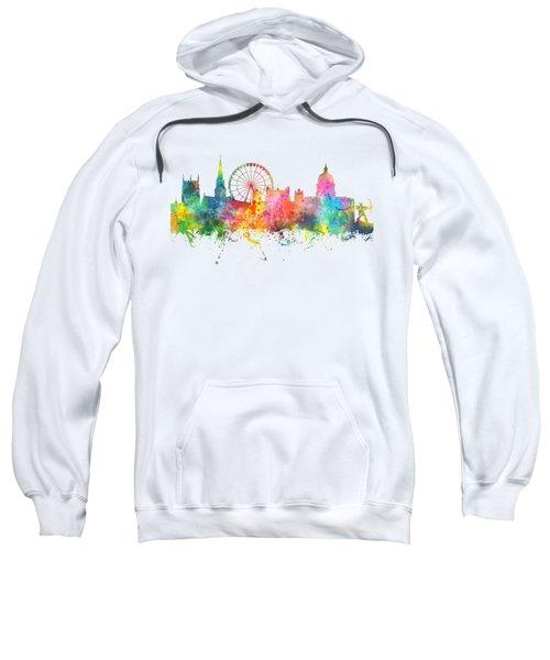 Nottingham  England Skyline Sweatshirt by Marlene Watson