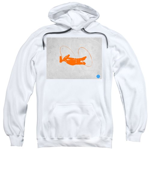 Orange Plane Sweatshirt by Naxart Studio