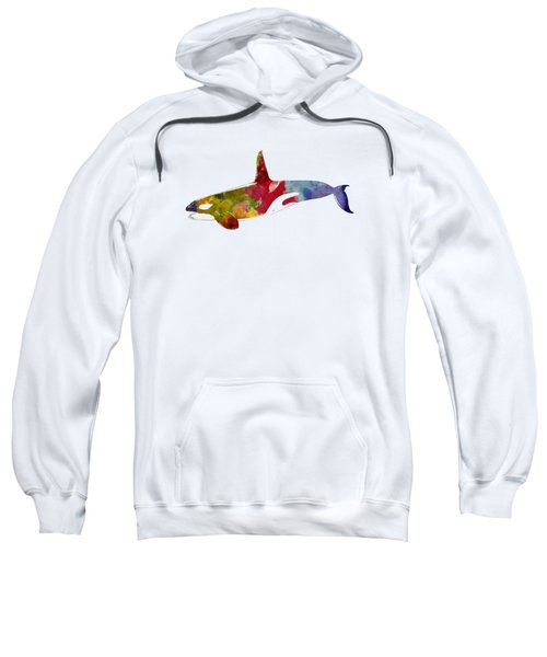 Orca - Killer Whale Drawing Sweatshirt by World Art Prints And Designs