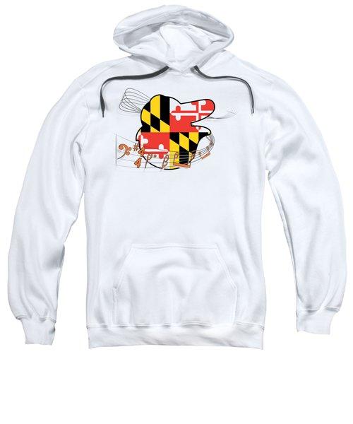 Oriole Sheet Music Design Sweatshirt by Justin Canose