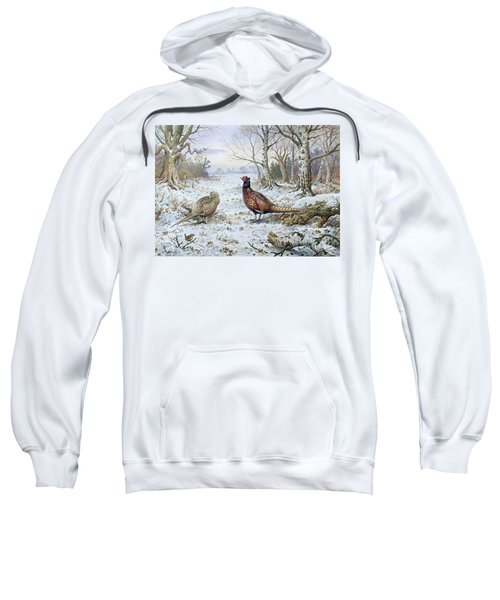 Pair Of Pheasants With A Wren Sweatshirt by Carl Donner