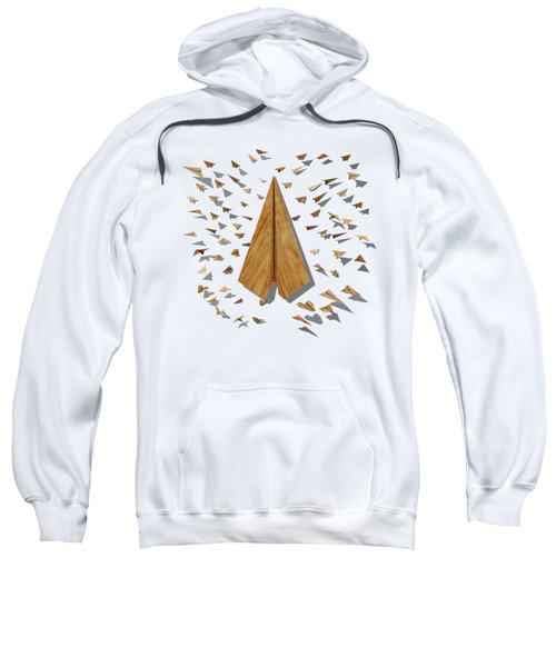 Paper Airplanes Of Wood 10 Sweatshirt by YoPedro
