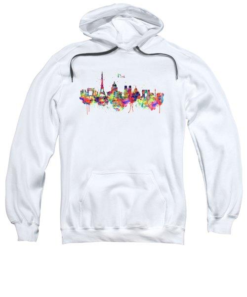 Paris Skyline 2 Sweatshirt by Marian Voicu